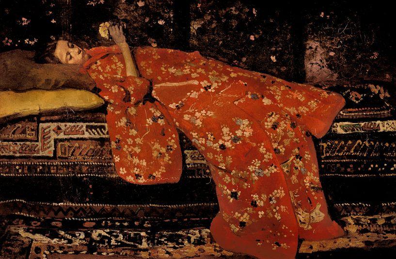 George Hendrik Breitner. Mädchen im roten Kimono von 1000 Schilderijen