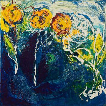 Flower blue von Carmen Eisele