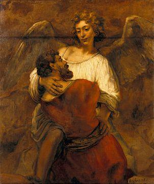 Jaboc kämpft mit dem Engel, Rembrandt van Rijn