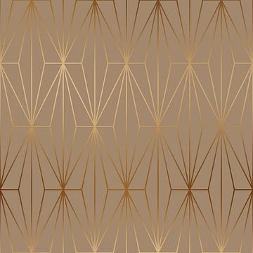 ELEGANT GOLD DIAMOND PATTERN I van Pia Schneider
