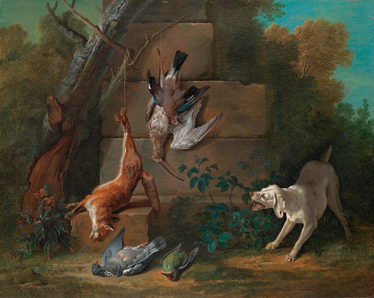 Hund bewacht totes Wild, Jean-Baptiste Oudry von Meesterlijcke Meesters