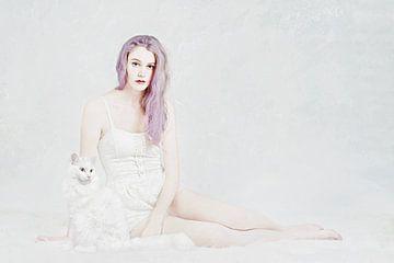La dame avec le chat sur Elianne van Turennout