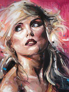 Blondie (Debbie Harry) Gemälde von Jos Hoppenbrouwers
