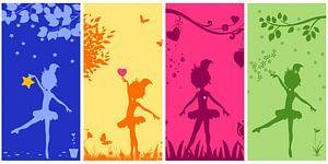 Ballerina collage voor de meisjeskamer