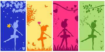 Ballerina collage voor de meisjeskamer van Marion Tenbergen