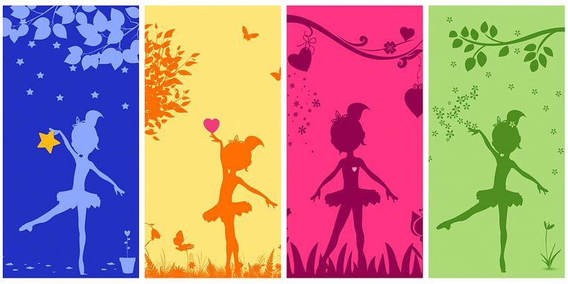 Ballerine collage pour la chambre des filles sur Marion Tenbergen