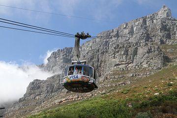 Kabelbaan Tafelberg Kaapstad van Jan Roodzand