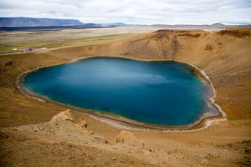 Kratermeer Krafla op IJsland van