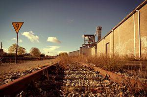 Verlaten spoorrails van