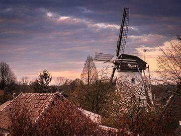 Moulin à vent néerlandais à Elden sur Anke de Haan