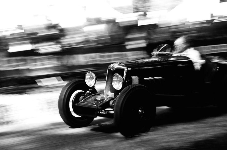 Snelheid in zwart wit