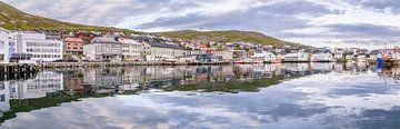 Stadtbild Honningsvag Norwegen von Hilda Weges