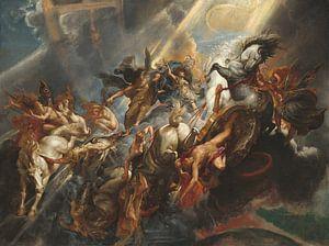 De val van Phaëton, geschilderd door Peter Paul Rubens van