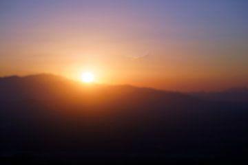 Sonnenuntergang Lassithi Plateau, Kreta von Astrid Tomeij