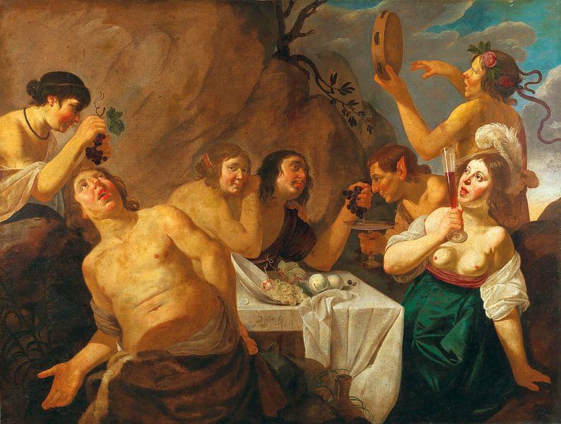 Jan van Bijlert, Bacchanal - 1656 von Atelier Liesjes