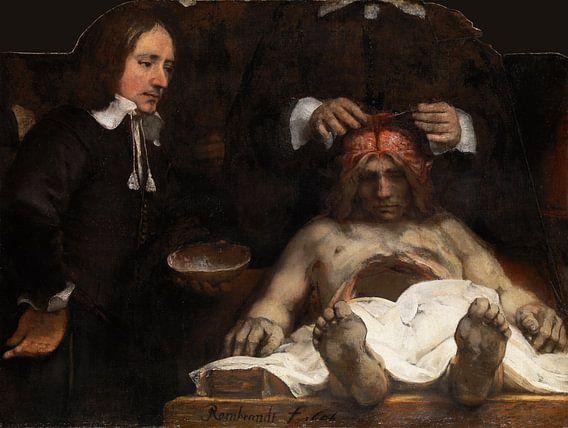 Rembrandt. Anatomische les van Dr. Jan Deijman van 1000 Schilderijen