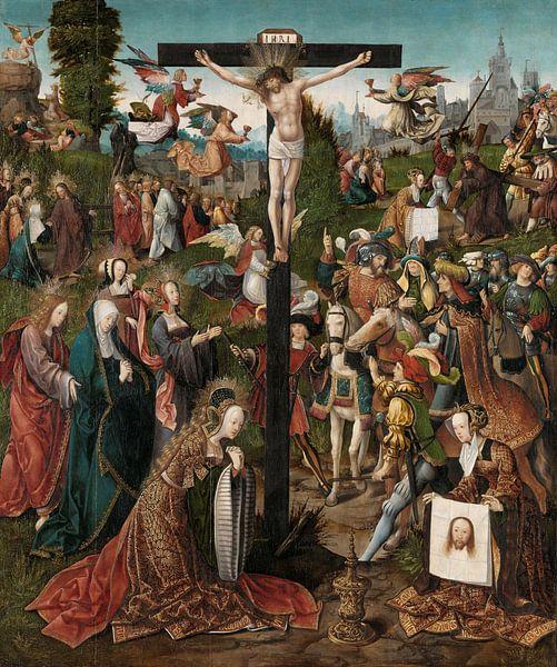 Die Kreuzigung, Jacob Cornelisz. van Oostsanen, um 1507 - um 1510 von Marieke de Koning