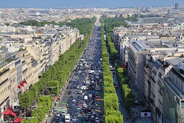 Champs Elysees in Parijs van Jan Kranendonk