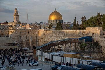 Klaagmuur in Jeruzalem, Isrel van Joost Adriaanse