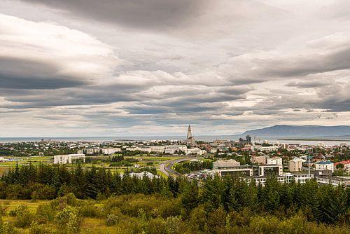 Skyline van Reykjavik van