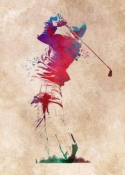 Golfspeler 4 sport #golf #sport van JBJart Justyna Jaszke