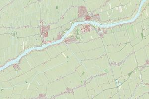 Kaart van Liesveld van