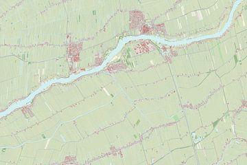 Kaart van Liesveld