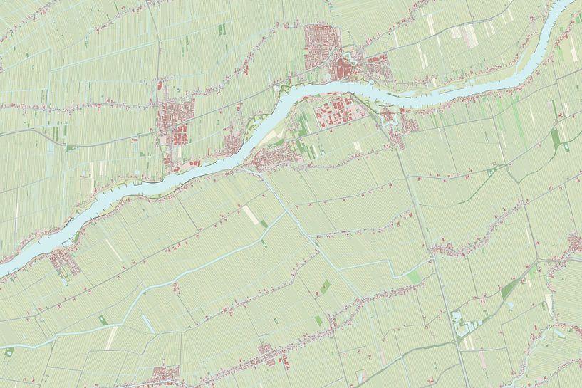 Kaart van Liesveld van Rebel Ontwerp