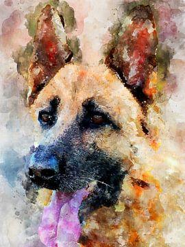 Duitse herdershond van Printed Artings