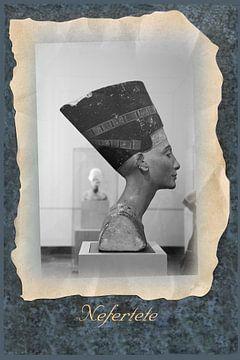 Nefertiti in museum in Berlijn van Ina Hölzel