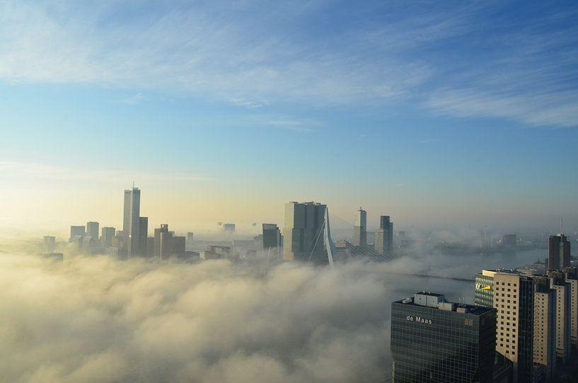 Rotterdam ontwaakt in de vroege ochtend van Marcel van Duinen