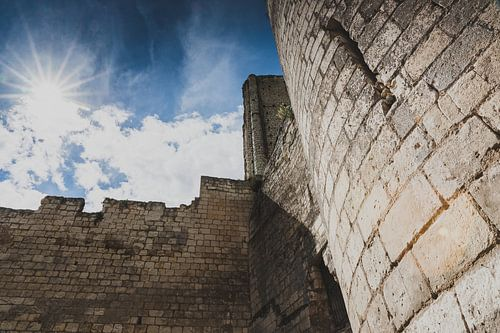 Kasteel en Donjon in de Franse stad Loches, Frankrijk, Loire van Fotografiecor .nl