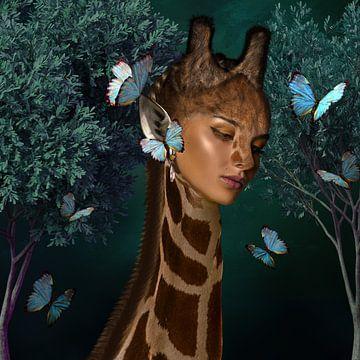 Kruising vrouw - giraf van OEVER.ART