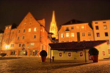 Historische worstentaart in Regensburg bij nacht van Roith Fotografie