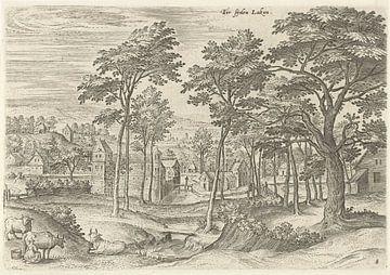 Hans Collaert (I), Blick auf eine Schleuse in Laeken
