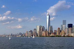 Manhattan vanaf het water van