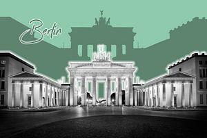 Berlin Brandenburg Gate | Graphic Art | groen