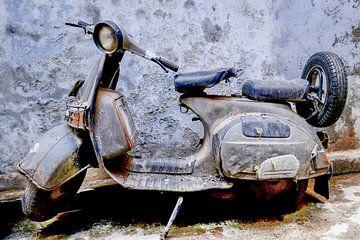 vespa retro scooter van martin slagveld