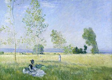 Summer (Meadow at Bezons), Claude Monet sur