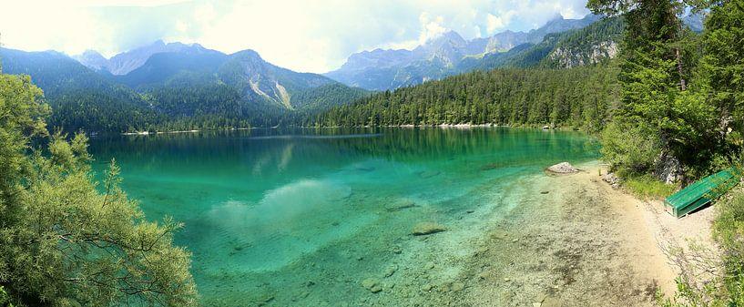 Bergmeer in de Dolomieten Italië van Jasper van de Gein Photography