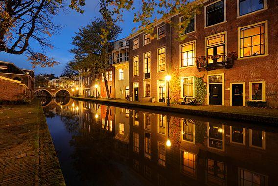 Twijnstraat aan de Werf aan de Oudegracht in Utrecht van Donker Utrecht