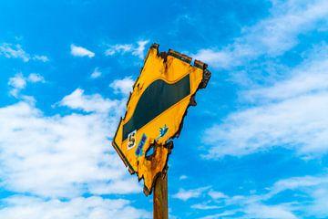 Verweerd verkeersbord van Ivo de Rooij