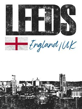 Leeds Engeland van Printed Artings