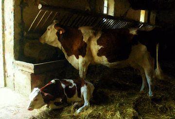 Koeien op stal sur Frans Jonker