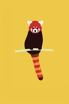 Rode panda van Studio Mattie