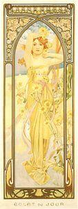 Tijden van de Dag: Dag Helderheid - Art Nouveau Schilderij Mucha Jugendstil van