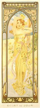 Tijden van de Dag: Dag Helderheid - Art Nouveau Schilderij Mucha Jugendstil sur