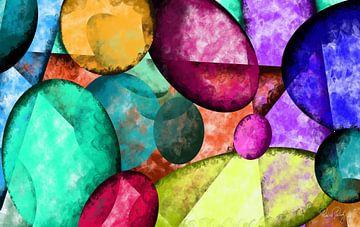 Abstracte kunst - Kleurrijke stenen van Patricia Piotrak