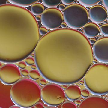 cirkels van olie van Teus Kooijfotografie