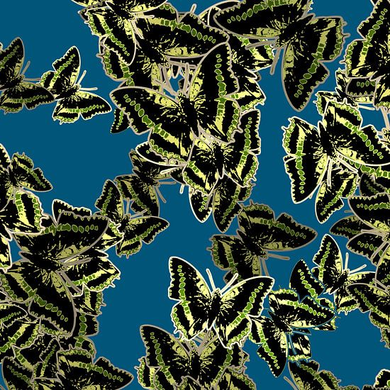 GRAFISCHE PRINT VLINDERS 4 van MY ARTIE WALL